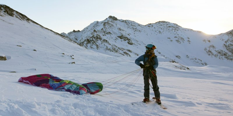 Col Agnel - Snow Kite Session